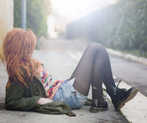 grunge, red hair, and redhead image