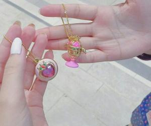 pink, kawaii, and necklace image