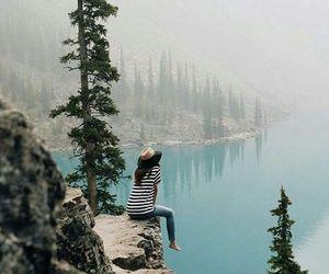 travel and lake image