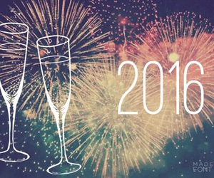 2016, fireworks, and new year image