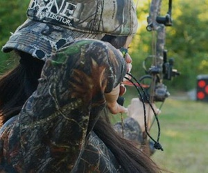 target, compound bow, and bow hunting image