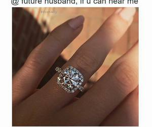 ring, goals, and husband image