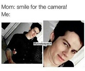 funny, dylan o'brien, and teen wolf image