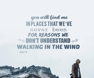 one direction, walking in the wind, and Lyrics image