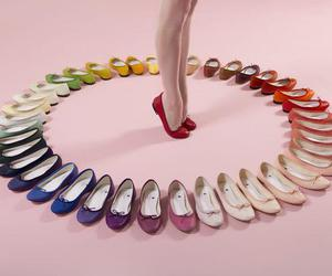 shoes, rainbow, and repetto image