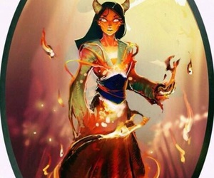 mulan, disney, and fire image