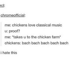 back, chickens, and classical music image