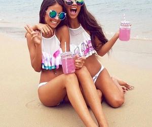 beach, long hair, and sunglasses image