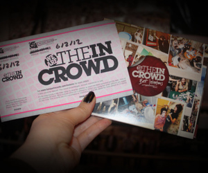 cd, we are the in crowd, and ticket image