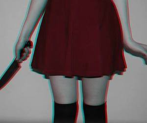 knife, red, and black image