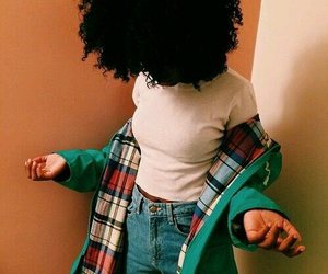 Afro, black, and outfit image