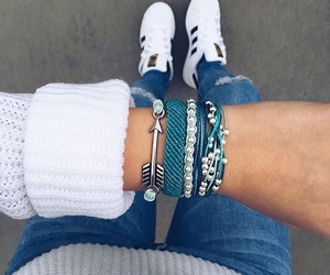 blue, adidas, and cool image