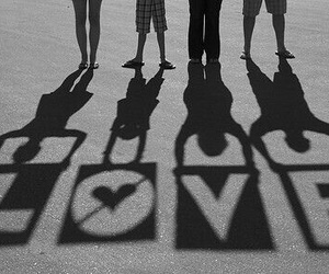 amor, love, and black and white image