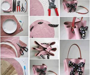 diy, bag, and pink image
