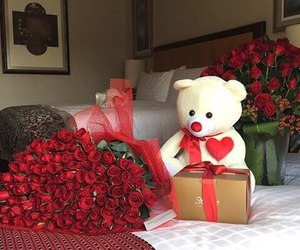 rose, love, and bear image