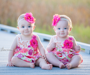 babies, twins, and born image