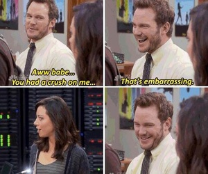 funny, chris pratt, and parks and recreation image