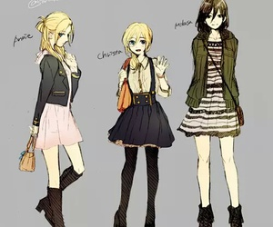 anime, mikasa, and annie image