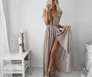 blonde, dress, and long hair image