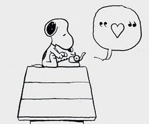snoopy, love, and heart image