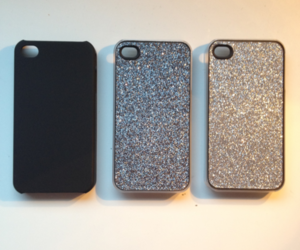 black, silver, and glitter image