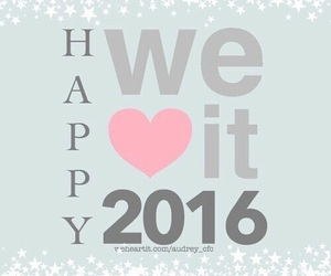 2016, happy, and new year image