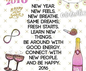 2016, new year, and happy image