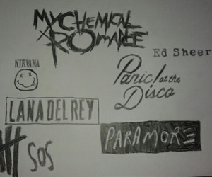 music, my chemical romance, and nirvana image