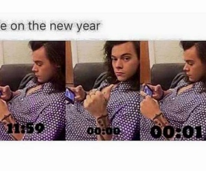Harry Styles, new year, and funny image