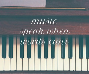 music, piano, and speak image