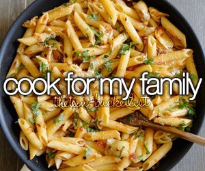 cook, food, and family image