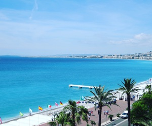 beach, summer, and nice france image