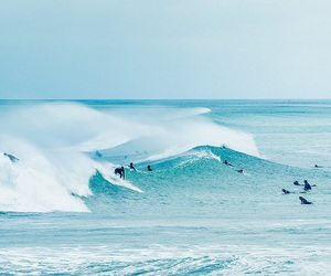 ocean, summer, and surfing image