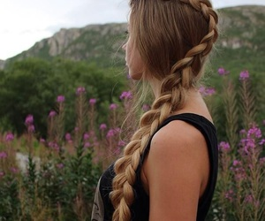 braid, hair, and hairstyle image