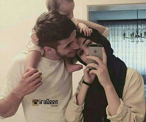 family, baby, and muslim image