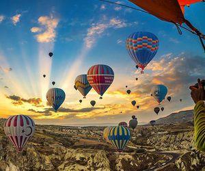 balloons, hot air balloon, and beautiful image