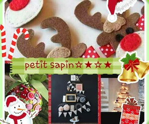 decorations, sapin, and cerfs image