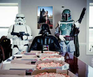 star wars, pizza, and photography image