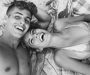attractive, b&w, and goals image