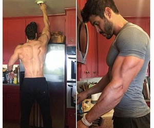 muscles, derek hale, and Relationship image