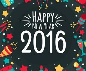 2016 and happy new year image