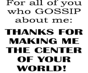 gossip, quote, and thanks image