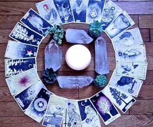 crystal, tarot, and witchcraft image