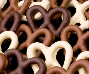 chocolate, food, and pretzel image