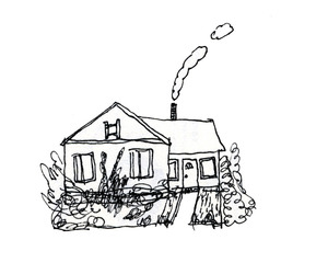 drawing and house image