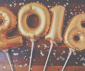 2016, new year, and gold image