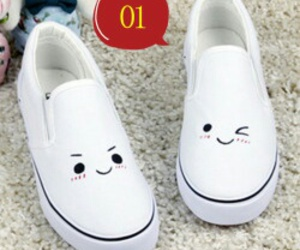 shoes, white, and smile image