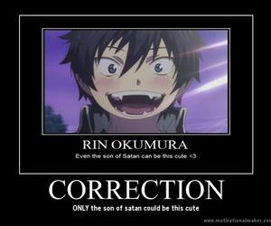 funny, ao no exorcist, and true image
