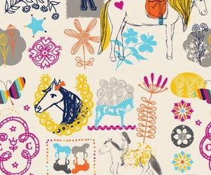 wallpaper, horse, and pattern image
