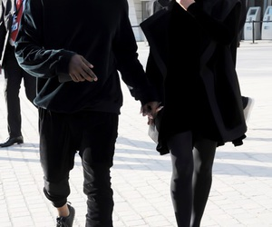 kim kardashian, kanye west, and black image